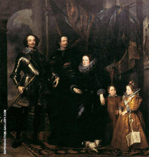 The Lomellini Family 1625 Painting By Van Dyck - Reproduction Gallery