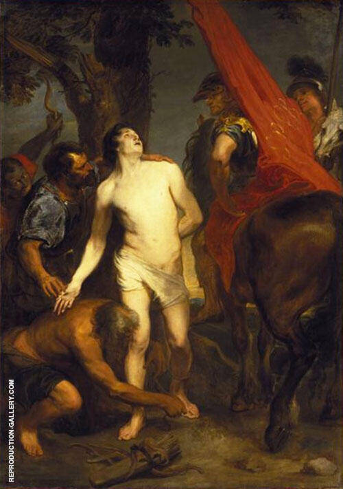 The Martyrdom of St Sebastian Painting By Van Dyck - Reproduction Gallery
