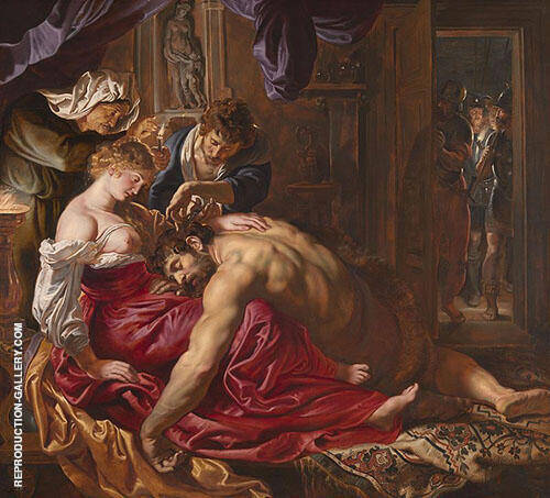 Samson and Delilah 1609 Painting By Van Dyck - Reproduction Gallery