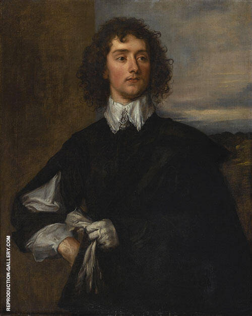 Thomas Hanmer 1638 By Van Dyck Replica Paintings on Canvas - Reproduction Gallery