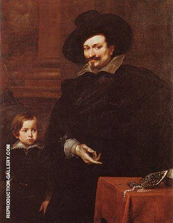 The Jeweller Pucci and his Son By Van Dyck - Oil Paintings & Art Reproductions - Reproduction Gallery
