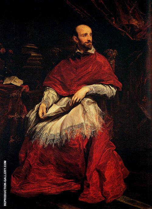 Cardinal Bentivoglio 1623 Painting By Van Dyck - Reproduction Gallery