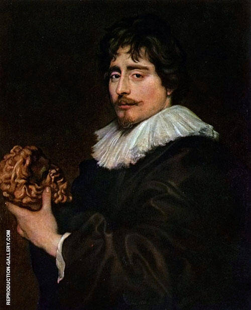 Francois Duquesnoy By Van Dyck Replica Paintings on Canvas - Reproduction Gallery