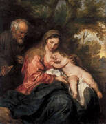 The Rest on the Flght to Egypt 1630 By Van Dyck