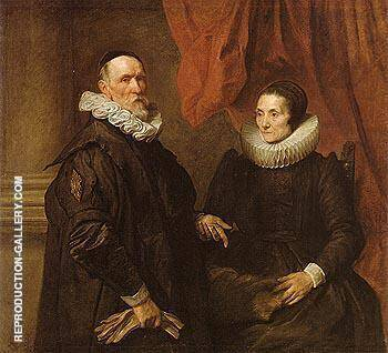 The Painter Jan de Wael and is Wife 1629 By Van Dyck Replica Paintings on Canvas - Reproduction Gallery