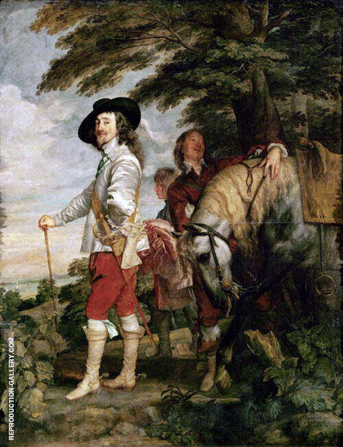Le Roi a la Chasse 1635 Painting By Van Dyck - Reproduction Gallery