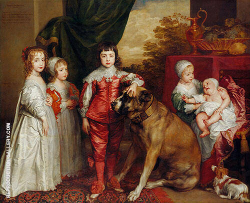 The five Eldest Children of Charles 1637 Painting By Van Dyck