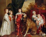The five Eldest Children of Charles 1637 By Van Dyck