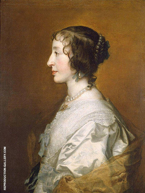 Henrietta Maria Painting By Van Dyck - Reproduction Gallery