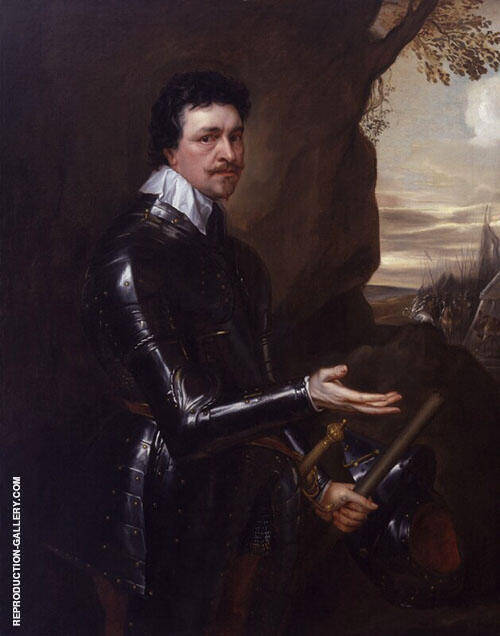 Thomas Wentworth Eari of Strafford Painting By Van Dyck