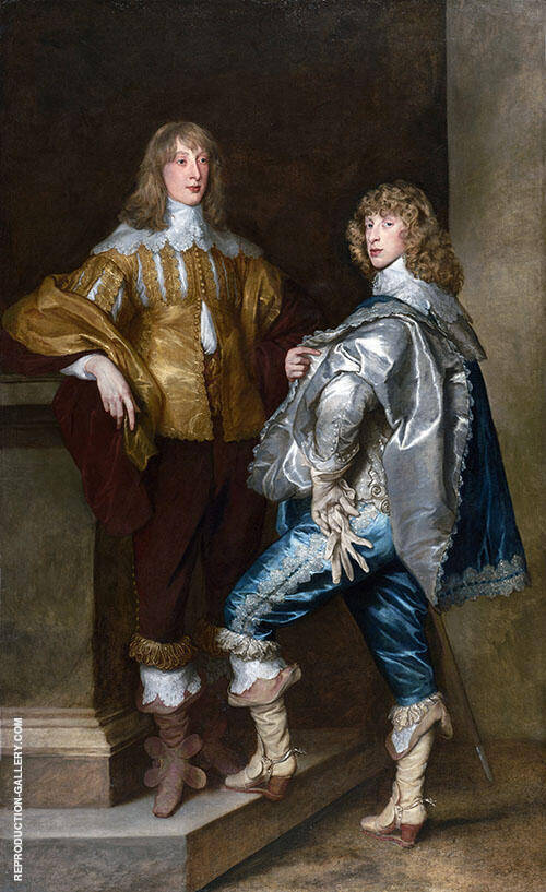 Lord John Stuart and his Brother Lord Bernard Stuart Painting By Van Dyck