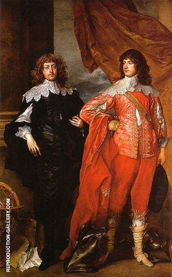 War and Peace, a double portrait of George Digby, 2nd Earl of Bristol and William Russell, 1st Duke of Bedford By Van Dyck - Oil Paintings & Art Reproductions - Reproduction Gallery
