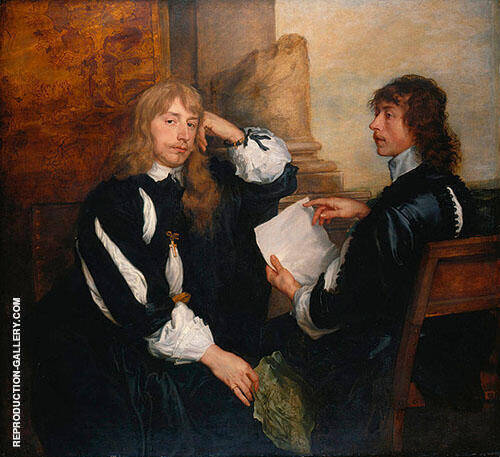 Reproduction of Thomas Killigrew and an Unknown Man 1638 by Van Dyck | Oil Painting Replica On CanvasReproduction Gallery
