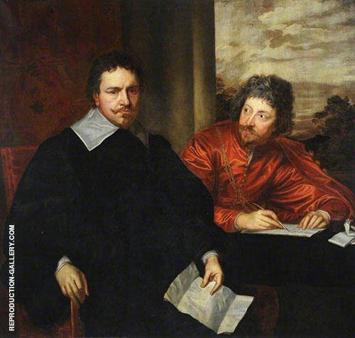 Thomas Wentworth Earl of Strafford with Sir Philip Mainwaring By Van Dyck Replica Paintings on Canvas - Reproduction Gallery