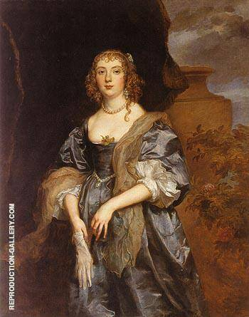 Lady Anne Carr Countess of Bedford Painting By Van Dyck