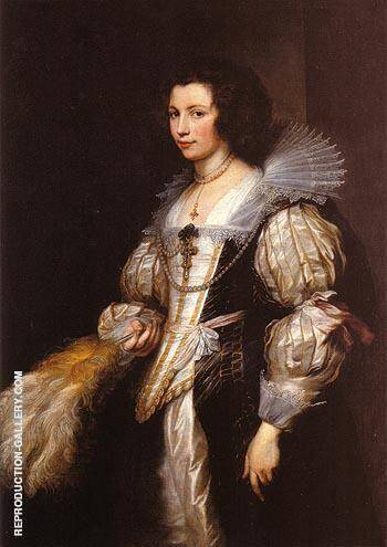 Maria Luigia de Tassis Painting By Van Dyck - Reproduction Gallery