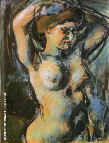 Nude with Upraised Arms 1906 By George Rouault