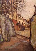 Rue Cortot Montmatre 1909 By Maurice Utrillo