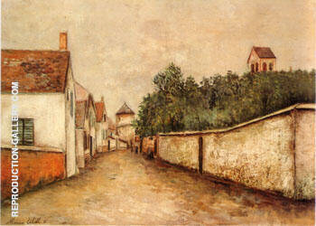 Marizy Sane Genevieve 1910 By Maurice Utrillo - Oil Paintings & Art Reproductions - Reproduction Gallery