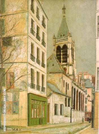 Reproduction of The Church Saint- Severin by Maurice Utrillo | Oil Painting Replica On CanvasReproduction Gallery