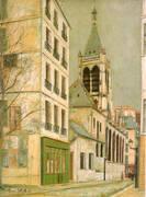The Church Saint- Severin By Maurice Utrillo