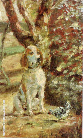 The Artist's Dog Fleche Painting By Henri De Toulouse-lautrec