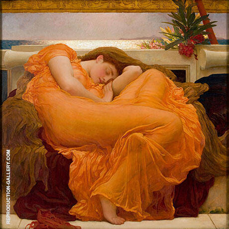 Flaming June c1895 By Frederick Lord Leighton Replica Paintings on Canvas - Reproduction Gallery