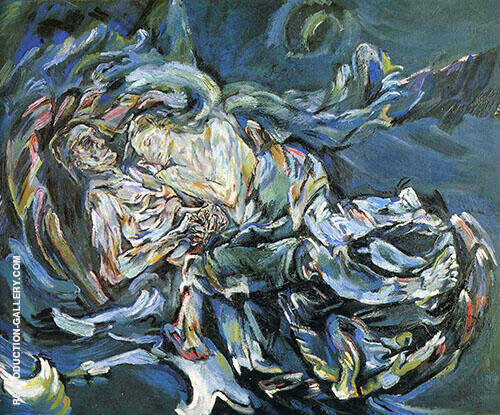 The Tempest Bride of the Wind Painting By Oskar Kokoschka