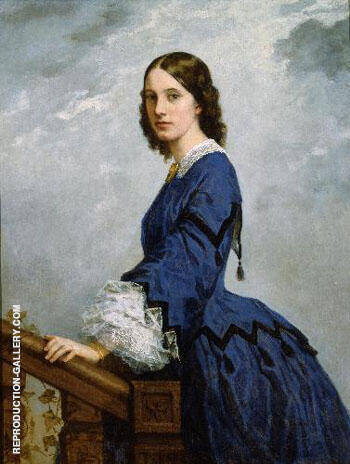 Portrait of Mrs Robert Shaw Sturgis By William Morris Hunt