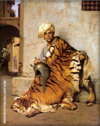 Pelt Merchant of Cairo 1869 By Jean Leon Gerome - Oil Paintings & Art Reproductions - Reproduction Gallery