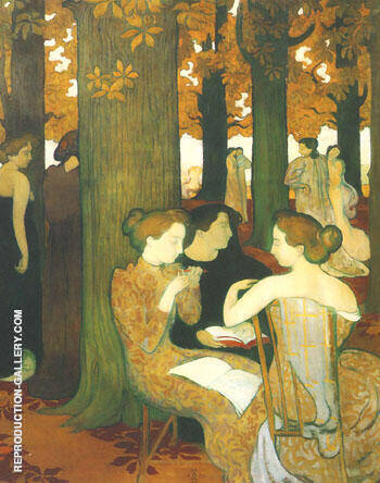The Muses 1893 By Maurice Denis - Oil Paintings & Art Reproductions - Reproduction Gallery