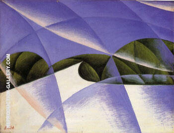Abstract Speed the Car Has Passed 1913 By Giacomo Balla - Oil Paintings & Art Reproductions - Reproduction Gallery