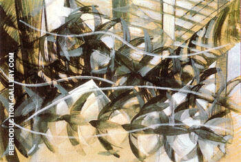 Reproduction of Flight of the Swallows 1913 by Giacomo Balla | Oil Painting Replica On CanvasReproduction Gallery