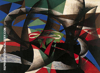 Patriotic Demonstration 1915 By Giacomo Balla