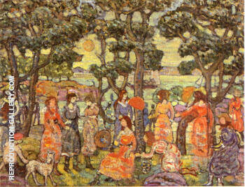 Reproduction of Landscape with Figures 1921 by Maurice Prendergast | Oil Painting Replica On CanvasReproduction Gallery