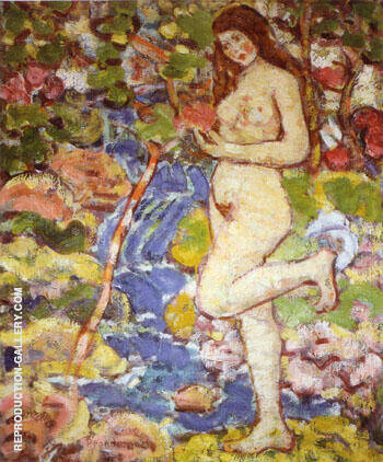 Waterfall c1911 By Maurice Prendergast - Oil Paintings & Art Reproductions - Reproduction Gallery