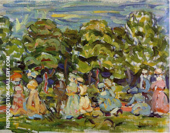 Reproduction of Summer in the Park 1908 by Maurice Prendergast | Oil Painting Replica On CanvasReproduction Gallery
