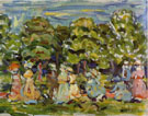 Summer in the Park 1908 By Maurice Prendergast