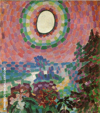 Reproduction of Landscape with Disk 1906 by Robert Delaunay | Oil Painting Replica On CanvasReproduction Gallery