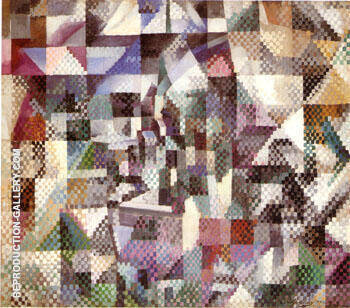 Reproduction of Window on the City No 4 by Robert Delaunay | Oil Painting Replica On CanvasReproduction Gallery
