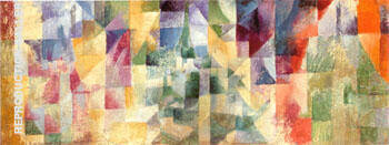 Windows in Three Parts 1912 Painting By Robert Delaunay