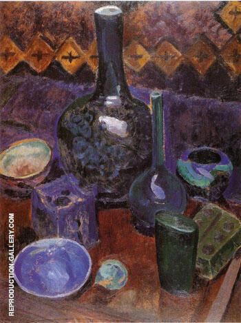 Still Life Vase and Objects c1907 By Robert Delaunay Replica Paintings on Canvas - Reproduction Gallery