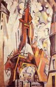Eiffel Tower c1910 By Robert Delaunay