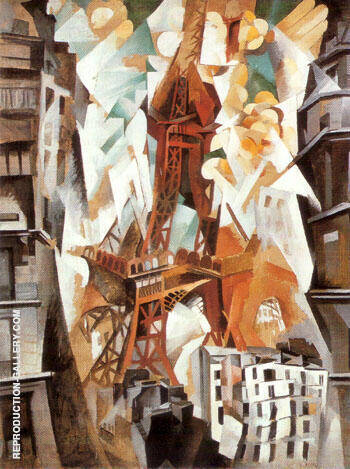 Champ de Mars, The Red Tower 1911 By Robert Delaunay Replica Paintings on Canvas - Reproduction Gallery