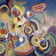 Hommage a Bleriot 1914 By Robert Delaunay