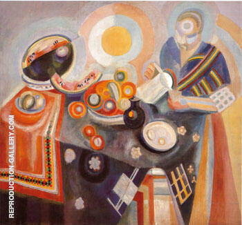 Portuguese Woman or Woman Pouring 1916 By Robert Delaunay - Oil Paintings & Art Reproductions - Reproduction Gallery