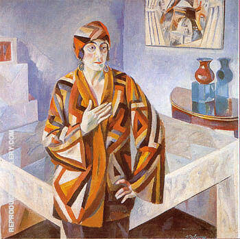 Portrait of Madam Mandel 1923 By Robert Delaunay Replica Paintings on Canvas - Reproduction Gallery