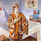 Portrait of Madam Mandel 1923 By Robert Delaunay