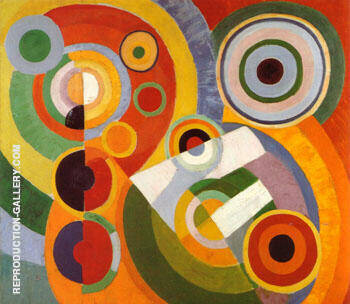 Rhythm Joie de Vivre 1930 By Robert Delaunay Replica Paintings on Canvas - Reproduction Gallery