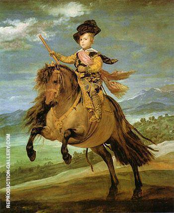 Prince Baltasar Carlos on Horseback 1634 By Diego Velazquez